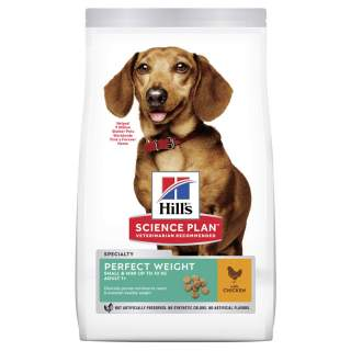 Hills: Canine Adult Perfect Weight Small&Mini Chicken 1.5kg