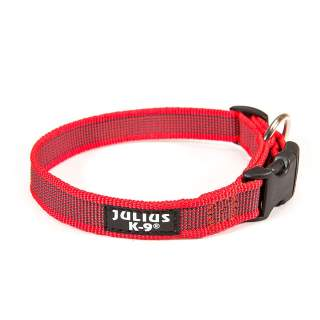 Julius-K9: Halsband, 25 mm, röd