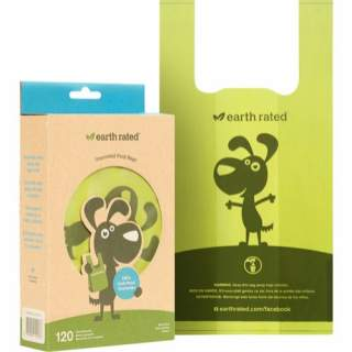 Earth Rated: Hundpåsar med handtag, neutral, 120 st