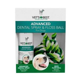 Vet's Best: Advanced Dental Spray & Floss Ball