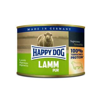 Happy Dog: Ente pur spannmålsfritt, 100% lamm