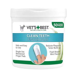 Vet's Best: Clean Teeth Finger Pads, 50 st