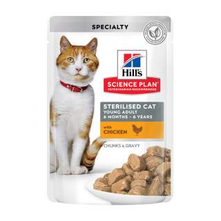 Hills: Feline Young Adult Sterilised Chick.& Salmon, 12x85g, multipack