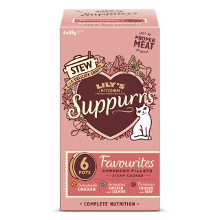 Lily's Kitchen: Suppurrs, Favourites Multipack, 6 x 85 g