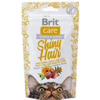 Brit: Care Cat Snack Shiny Hair (lax) 50g